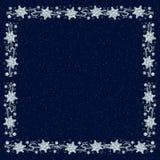 Snowflake Backgound on Navy Blue Stock Photos