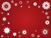 Snowflake Background. Red Christmas Snowflake Background vector illustration