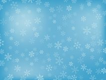 Snowflake Background. Winter Background With Different Snowflakes (In Light-Blue Colours Royalty Free Stock Image