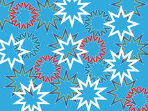 Snowflake background. Abstract snowflakes on blue background - vector illustration Royalty Free Stock Image