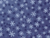 Snowflake Background. Winter Background With Different Snowflakes Stock Image