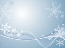 Snowflake background. Vector winter scene of snowflakes blowing in the wind Royalty Free Stock Photography