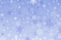 Snowflake Background. Snowflakes of different design and sizes create this useful background royalty free illustration