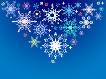 Snowflake background Royalty Free Stock Image
