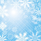 Snowflake Background. An illustration of a light coloured snowflake background, good for Christmas and festive occasions Royalty Free Stock Photography