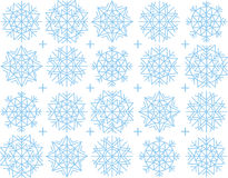 Snowflake background. Vector illustration of snowflake background Stock Photos
