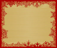 Snowflake Background. Red and Gold Striped Snowflake Background Royalty Free Stock Photography
