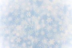 Snowflake background. Blue snowflake background with copy space, snowflake background stock photo