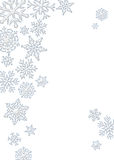 Snowflake Background. Graphic illustration of crystal snowflake background Royalty Free Stock Photography