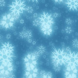 Snowflake background. Blue Snowfall abstract for background Stock Images