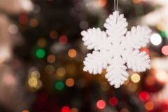 Snowflake on the background bokeh Stock Photography