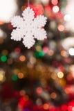 Snowflake on the background bokeh Stock Image