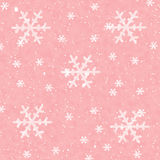 Snowflake background. Snowflake on frosty red background-illustration Stock Images