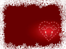 Snowflake background with heart Stock Photography