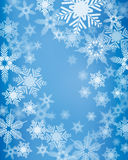Snowflake Background. An illustration of a blue coloured snowflake background, good for Christmas and festive occasions Stock Photos