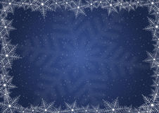 Snowflake background. Illustration of Christmas background with snowflake frame Royalty Free Stock Images