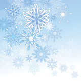 Snowflake Background. An illustration of a light coloured snowflake background, good for Christmas and festive occasions Stock Photos