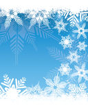 Snowflake Background. An illustration of a light coloured snowflake background, good for Christmas and festive occasions Royalty Free Stock Images