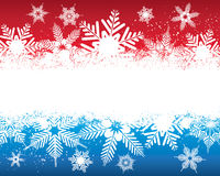 Snowflake Background. An illustration of a red and blue coloured snowflake background, good for Christmas and festive occasions Stock Photography