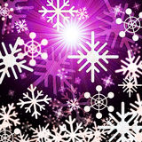 Snowflake Background Means Snowing Sun And Winter Royalty Free Stock Photo