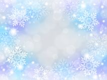 Snowflake background. Of pale color.blue Stock Images