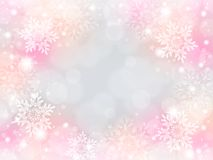 Snowflake background. Of pale color.pink Royalty Free Stock Images