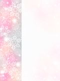 Snowflake background. Of pale color.pink Stock Photo