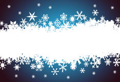 Snowflake background with place for text Royalty Free Stock Photos