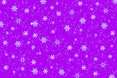 Snowflake background. Snowflake on purple background-illustration Stock Photo