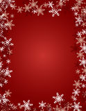 Snowflake Background - Red Stock Photos