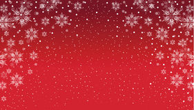 Snowflake background. Red and white snowflake background royalty free stock photography