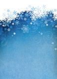 Snowflake background with room for copy space. Royalty Free Stock Photos