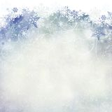 Snowflake background with room for copy space. Stock Image