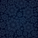 Snowflake background seamless vector Stock Photography