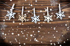 Snowflake Background in the Snow Stock Photo
