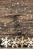 Snowflake Background with Snow Stock Photo
