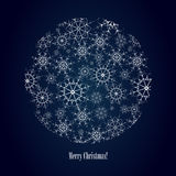 Snowflake background with text Royalty Free Stock Images