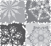 Snowflake background, vector Royalty Free Stock Photography