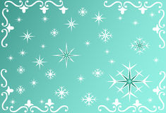 Snowflake background - vector. Snowflake background in green- vector Royalty Free Stock Photography
