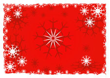 Snowflake background - vector. Snowflake background in red - vector Royalty Free Stock Photography