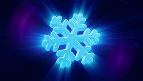 Snowflake background stock footage
