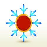 Snowflake badge label button . Royalty Free Stock Photo
