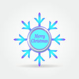 Snowflake badge label button 2. Royalty Free Stock Photos