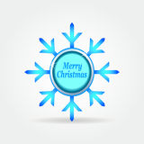 Snowflake badge label button 3. Royalty Free Stock Photo