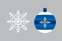 Snowflake and ball icon vector. Stock Image