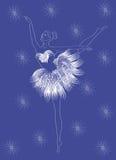 snowflake ballerina Στοκ Εικόνα