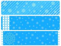 Snowflake baner backgrounds Royalty Free Stock Photography
