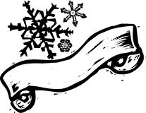 Snowflake Banner #2 Royalty Free Stock Photo