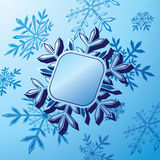 Snowflake banner Royalty Free Stock Photo