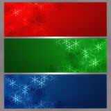 Snowflake banner. For web desing Stock Image